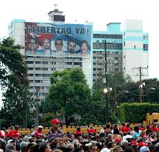 Photo: santiago de cuba, july 26 rally. Tracey Eaton photo