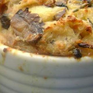 Savory Mushroom-Parmesan Bread Pudding
