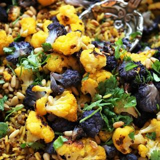 Colorful Cauliflower Quinoa-Rice Pilaf