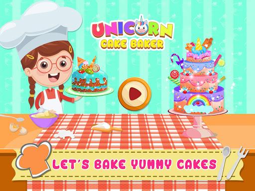 Unicorn Cake Donut Maker Baking Kitchen screenshot 11