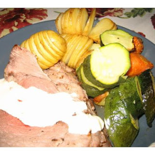 Beef Roast With Potatoes and Carrots.