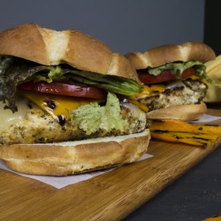 Grilled Chicken Sandwiches with Roasted Sweet Peppers