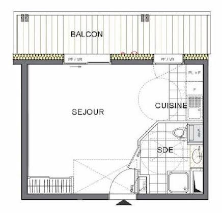 Vente studio 26,26 m2