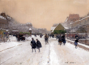 """Photo: Luigi Loir, """"Parigi sotto la neve"""""""