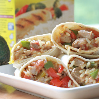 Cajun Fajita Chicken & Rice Wraps