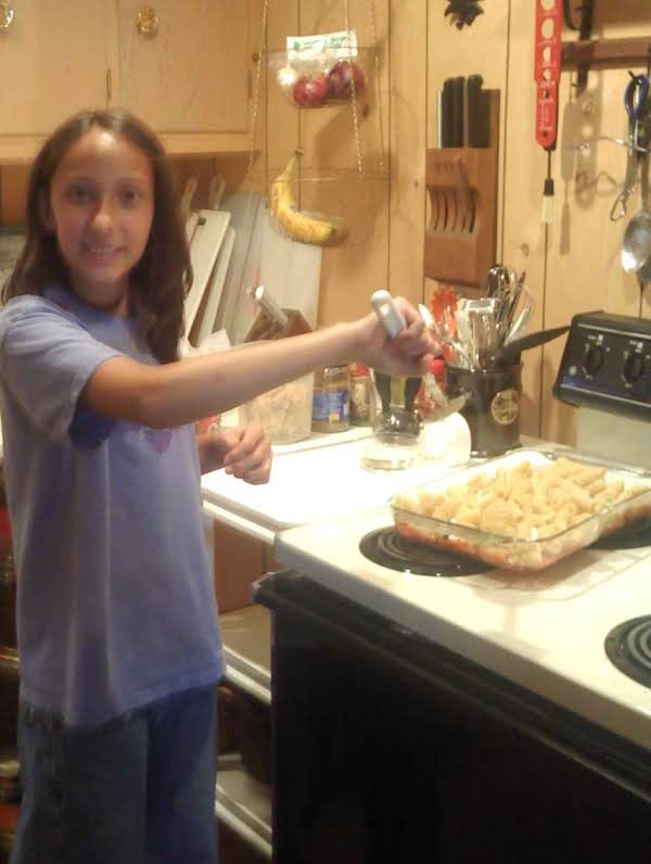 My Daughter Making Rigatoni At The Cottage...