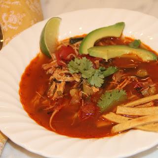 Shredded Chicken Tortilla Soup