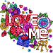 Valentine Love Glitter Color By Number Paint Book icon