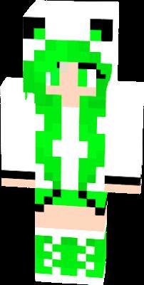 Minha skin é bonita e eu amo verde
