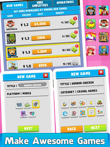 Code Triche Video Game Tycoon - Idle Clicker & Tap Inc Game APK MOD screenshots 3