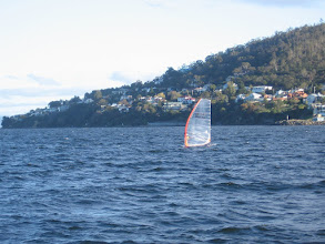 Photo: Windsurfer in the Derwent Estuary