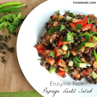 Food Babe's Enzyme Rich Lentil Papaya Salad