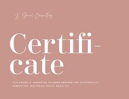 Successful Completion - Certificate item