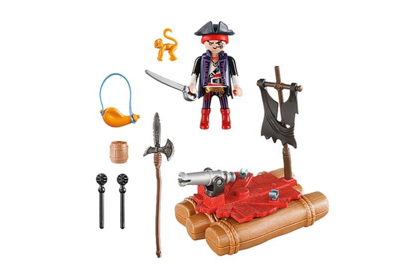 Contenido real de Playmobil® 5655 Maletín Pirata