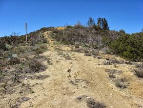 Photo: Climbing the ridge south