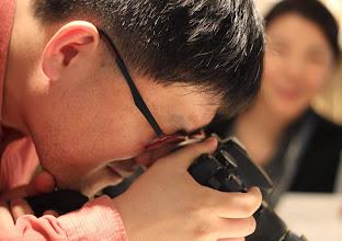 Photo: Seungil Kim hard at work shooting veggie restaurants in Busan
