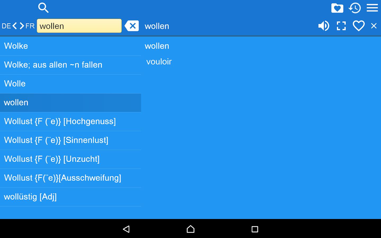 Dict deutsch franzosisch