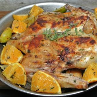 Citrus Grilled Chicken Under a Brick