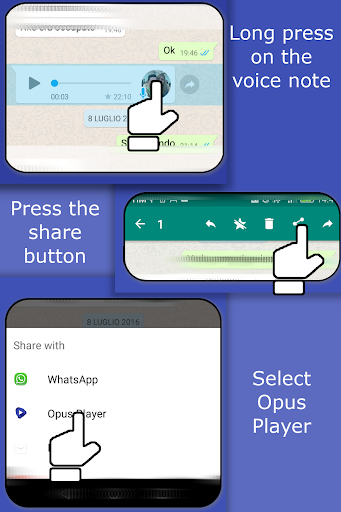 Opus Player - WhatsApp Audio Search and Organize 2.2.8 screenshots 2
