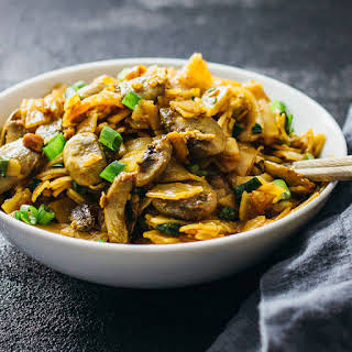 Spicy Thai Noodles With Mushrooms.