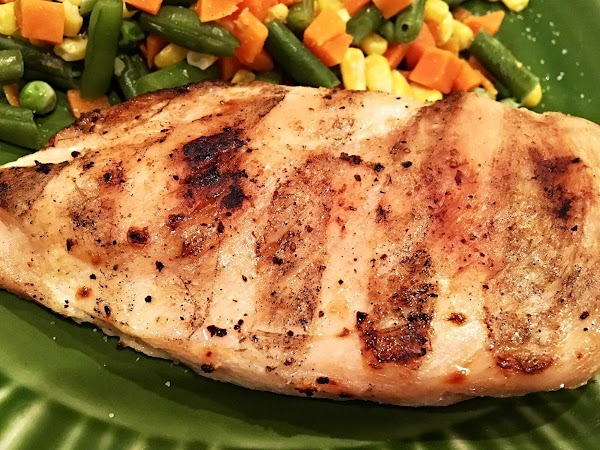 Rinse chicken then season as desires. I then grilled mine. It would be great...