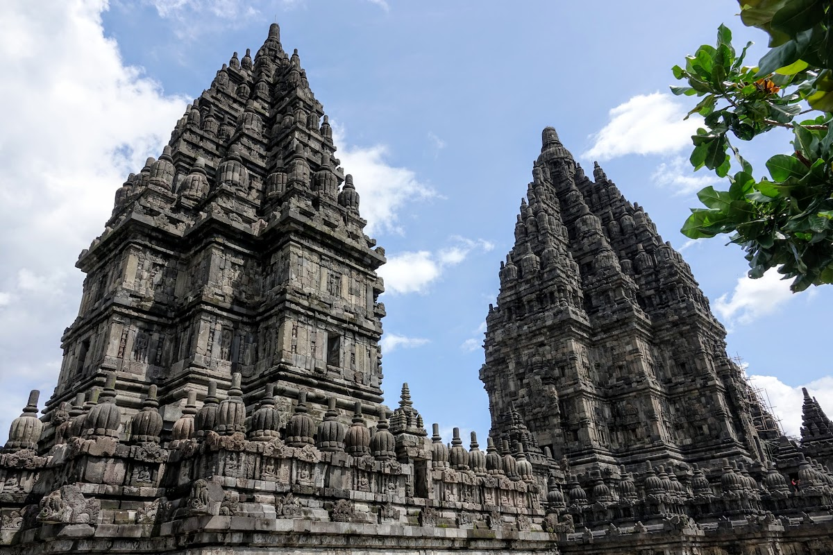 Indonesia. Yogyarkarta Pramantan Temple. Two main temples