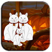 Halloween White Cat Escape
