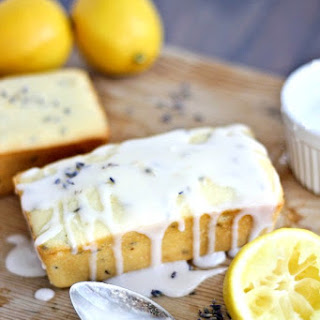 Lemon Lavender Greek Yogurt Pound Cake.