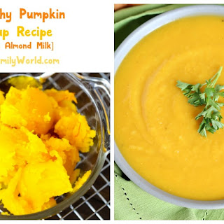 Easy Healthy Pumpkin Soup Recipe Made with Almond Milk