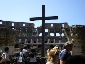 Photo: Cross errected by the Roman Catholic Church in 2000 at the Collosseum
