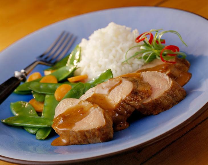 Pork Tenderloin with Hoisin-Raisin Sauce Recipe