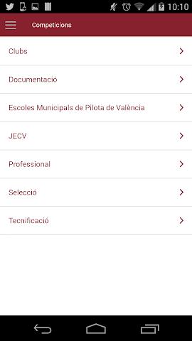 android Federació de Pilota Valenciana Screenshot 3
