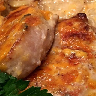 Pork Chop and Potato Casserole.