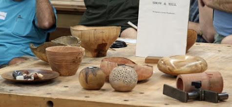 Photo: The Show & Tell table has some interesting forms and a box rest.