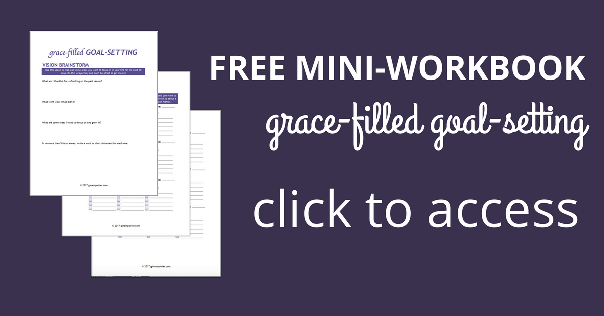 grace-filled goal-setting workbook
