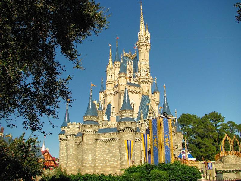 The iconic Cinderella Castle is the symbol of Magic Kingdom park in Walt Disney World Resort.