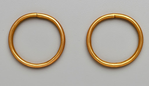 Pair of ear ornaments (circular tubular)