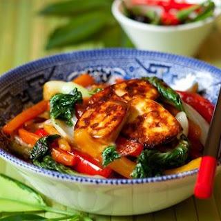 Thai Vegetable Stir-Fry with Tofu (vegetarian/vegan).