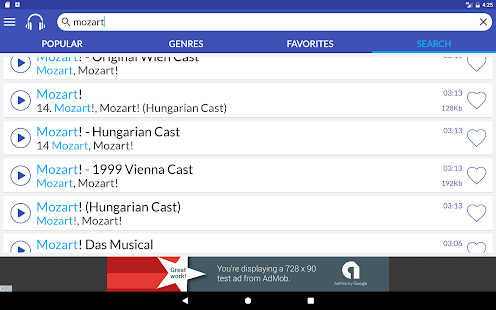 MeloPhone: Music Online Player, Find/Listen Songs Screenshot
