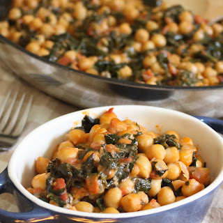 4-Ingredient Coconut Chickpeas with Tomatoes and Kale.