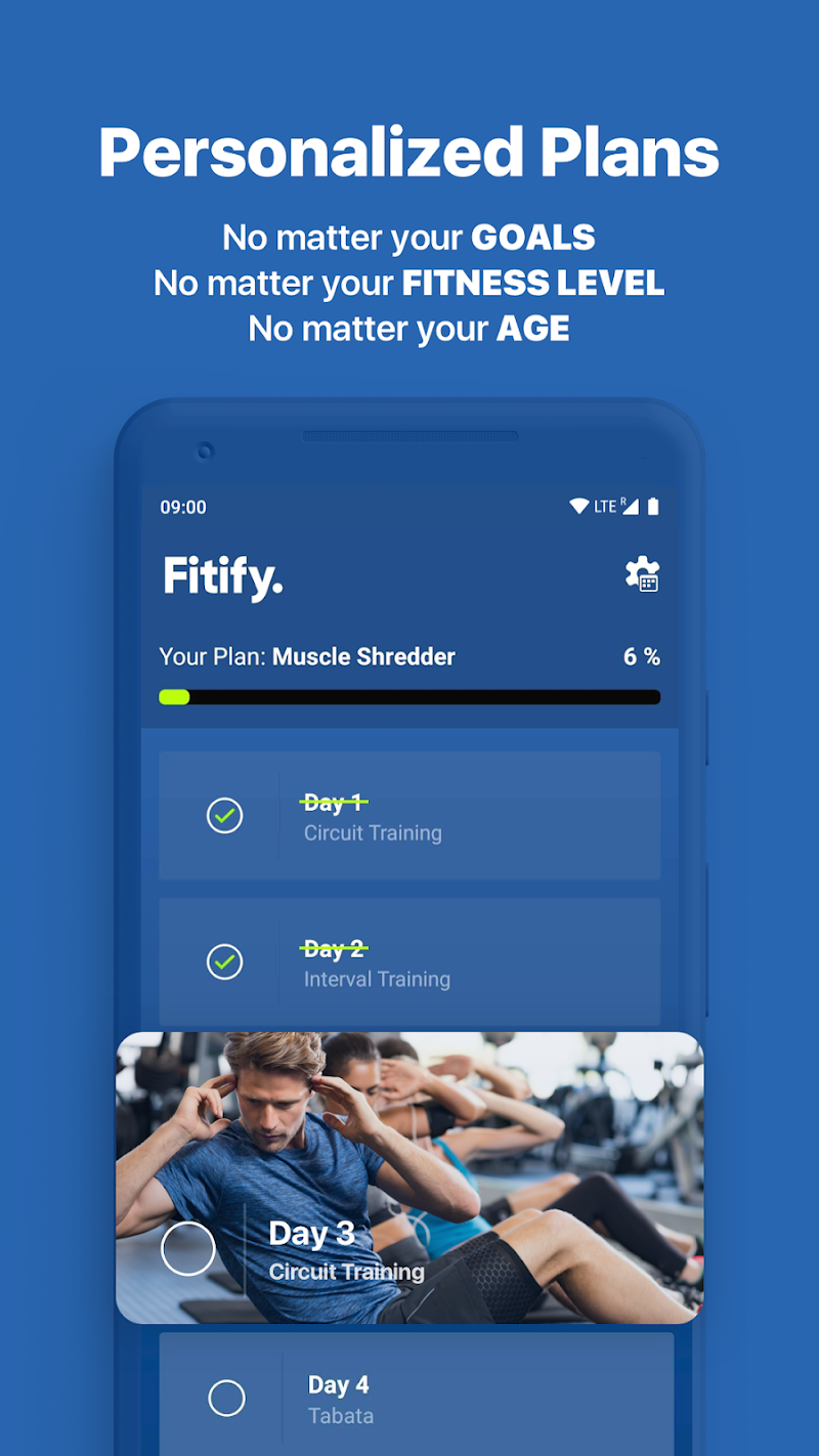 Fitify: Training, Workout Plan & Results App Screenshot 4