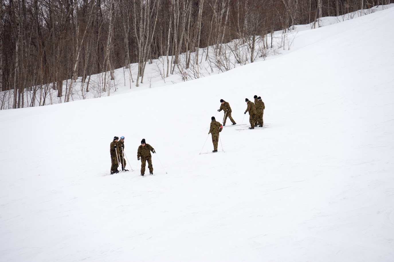 積雪寒冷地におけるスキー訓練