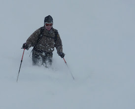 Photo: Dave skiing the Grand Pre