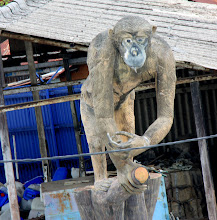 Photo: Year 2 Day 111 - Carved Ape in Front of a Factory