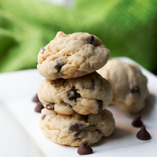Chocolate Chip Almond Extract Cookies.