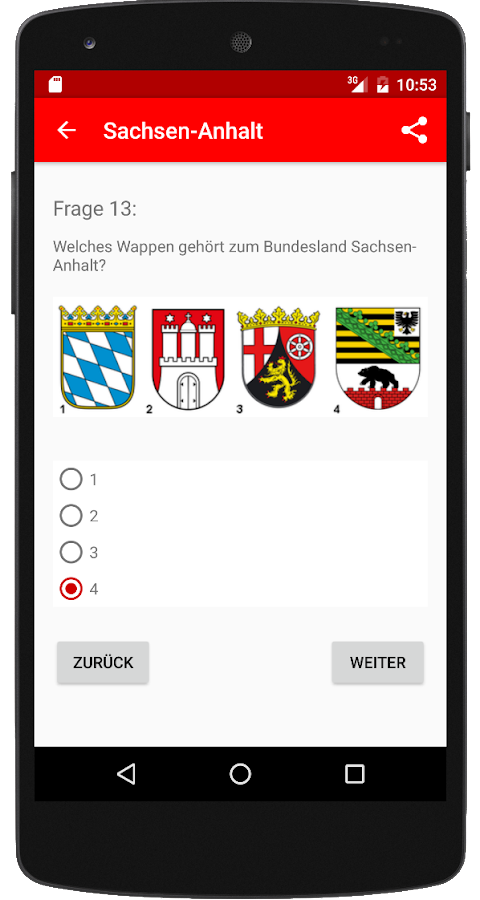 Einbürgerungstest ST 2017 – Screenshot