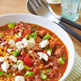 Linsen-Chili mit Feta