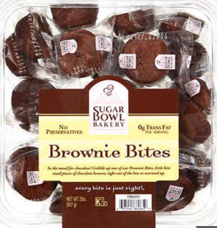 A package of brownie bites