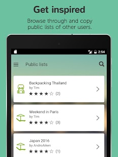 Packtor - Packing List Creator- screenshot thumbnail