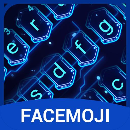 3D Hologram Neon Emoji Keyboard Theme (app)